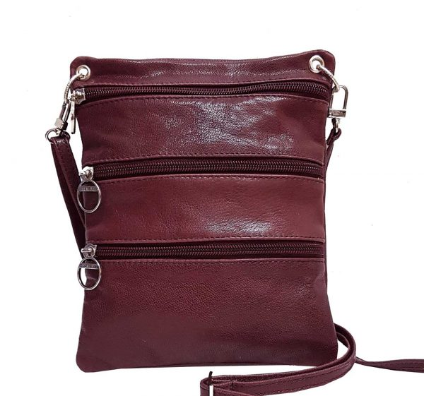 Vegetable Dyed Burgundy Leather Mini Bag