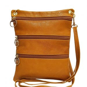 Camel Leather Travel Pouch