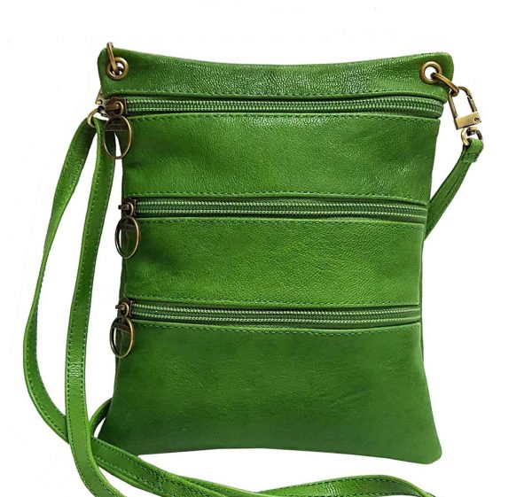 Vegetable Dyed Green Leather Mini Bag