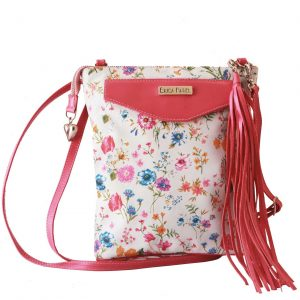 Summer Flowers Leather Crossbody