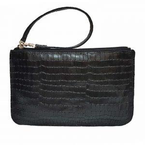 Black Leather Belt Bag