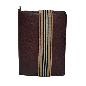 Burgundy Leather Passport Holder