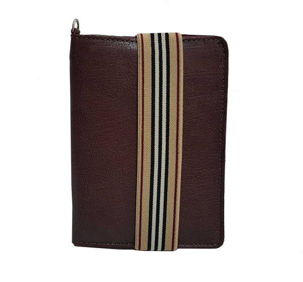 burgundy leather passport holder