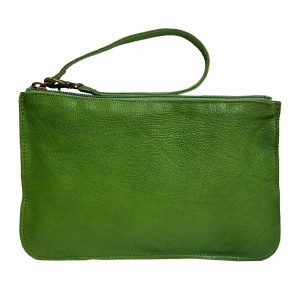 Green Leather Belt Bag