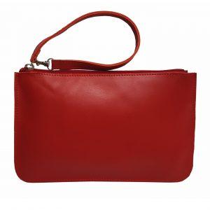Red Leather Belt Bag