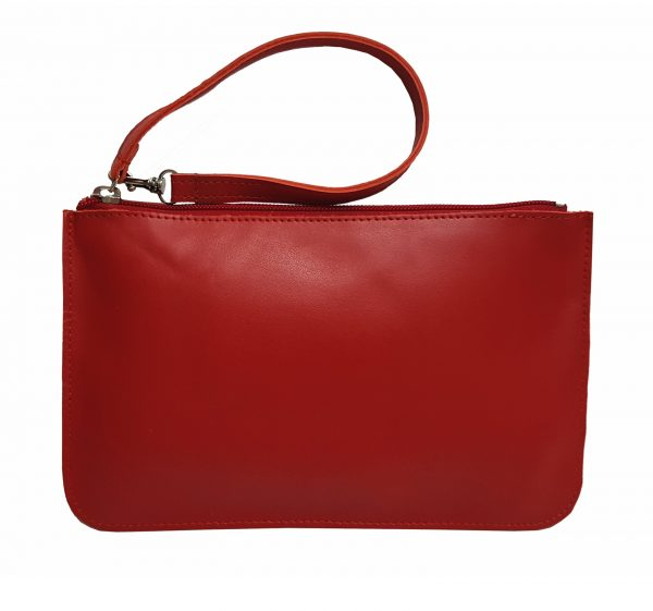 red leather belt bag