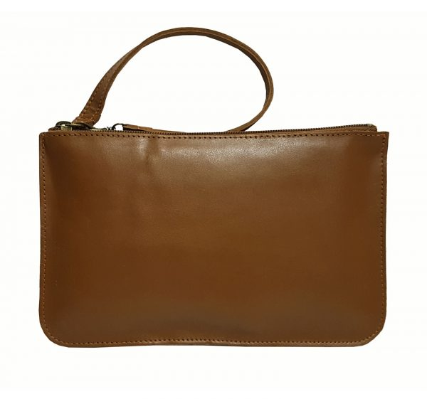 brown leather belt bag