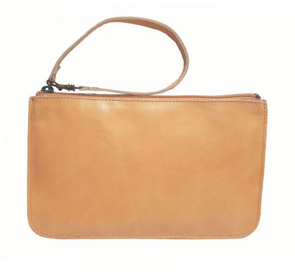 tan leather belt bag