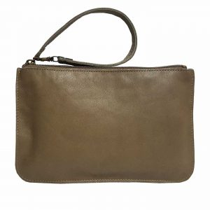 Taupe Leather Belt Bag