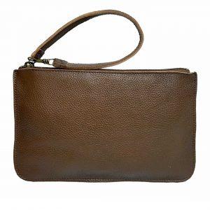 Pebbled Brown Leather Belt Bag