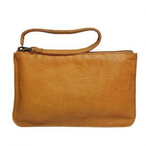 Camel Leather Belt Bag