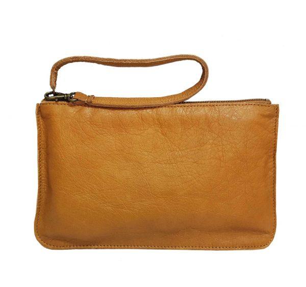 camel leather bel bag