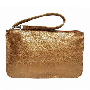 Gold Metallic Leather Belt Bag